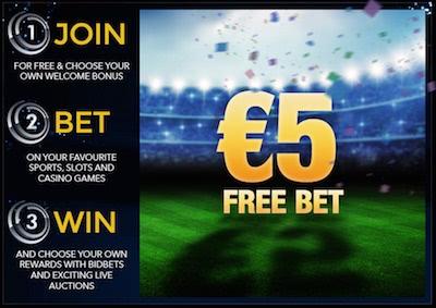 B-bets 5 euro gratis