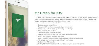 App Mr Green