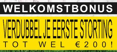 Tot 200 euro ontvang je voor je eerste storting bij bookmaker BetFIRST