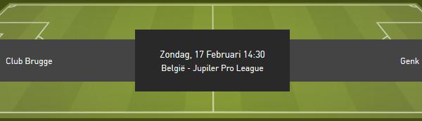 Club Brugge tegen Racing Genk met beste odds bij bookmaker Bet 777