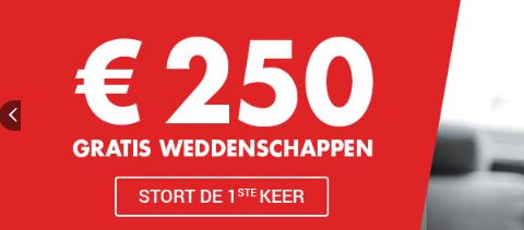 Gratis weddenschap Circus van 250 euro EK Bonus