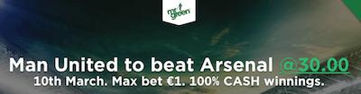 Arsenal Ma United Betting
