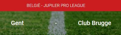 De odds voor de Play-Offs en Gent - Club Brugge bij bookmaker Circus