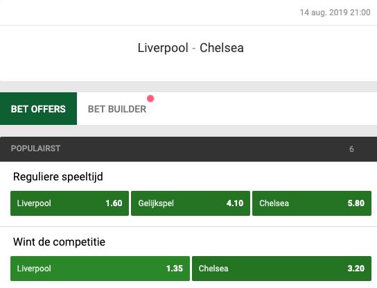 Gokken op Liverpool Chelsea in de Supercup bij Unibet