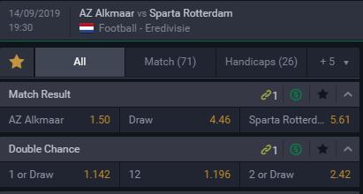 AZ Sparta Risk Free Bet goede odds
