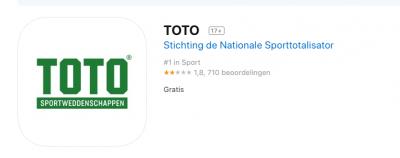 Toto krijgt slechte punten van de IOS Iphone App store