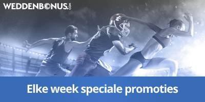 Elke week update weddenbonus de beste bookmaker promoties!