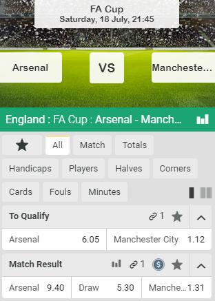wedden op de halve finale fa cup met goede odds