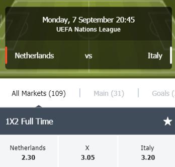 Nederland favoriet in de Nations League tegen Italie
