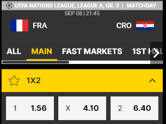 frankrijk favoriet tegen Kroatie
