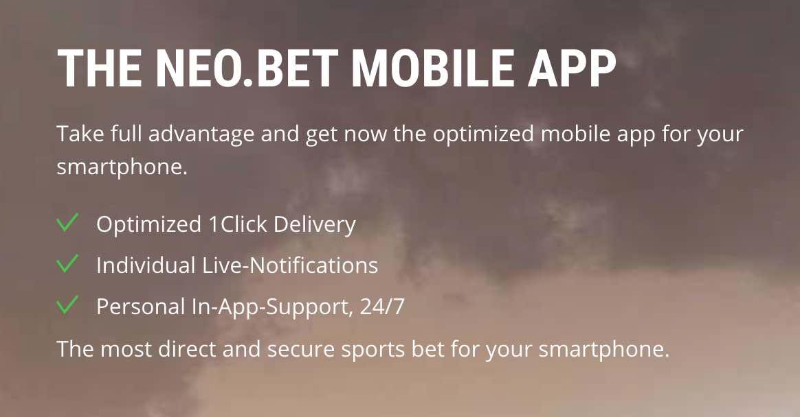 NEObet app