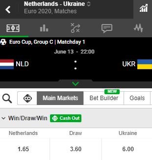 nederland tegen oekraine ek 13-06-2021
