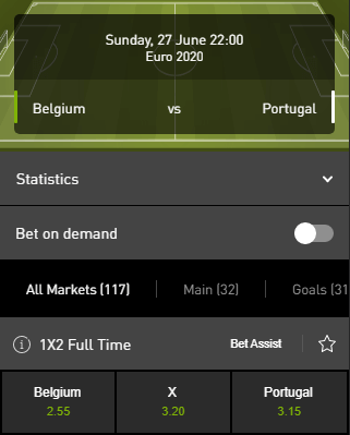 belgie portugal euro 2020 wedden