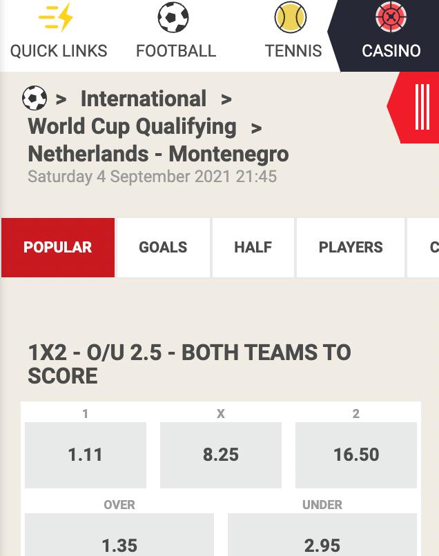 Nederland favoriet voor winst op Montenegro